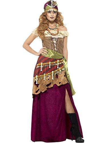 Priesterin Kostüm Voodoo - Smiffys Damen Kostüm Voodoo Priesterin Zigeunerin Karneval Halloween Gr.S