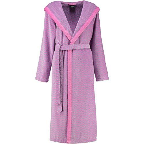 Cawö - Damen Bademantel mit Kapuze in verschiedenen Farben (2491) Pink (20)
