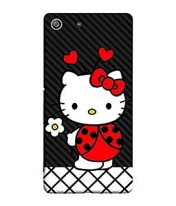 Fuson Designer Back Case Cover for Sony Xperia M5 Dual :: Sony Xperia M5 E5633 E5643 E5663 (Hearts Hello Kitty Cat Pink Love )