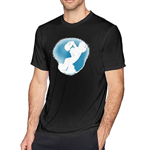 Herren Weich T Shirt Black S ()