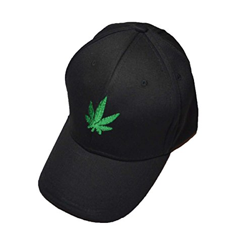 Cool Cannabis Hanf Weed Logo Baseball Cap Schwarz - Hanf Cap