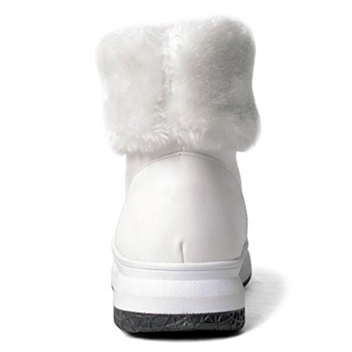 Stawhx Taoffen Hiver A Chaussures Enfiler White Bottes For Femmes wpxqxPanT