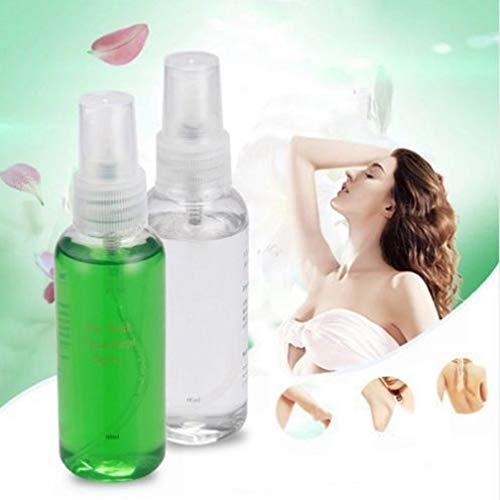 Glattes Körper-Haar-Abbau-Spray, ROMANTIC BEAR Haar-Abbau Hilfsspray für Wachs-Behandlung Haar-Wachstumshemmer 60ml (Vor dem Wax- Moisturizer Oil)