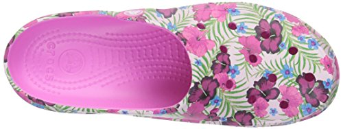 Crocs Freesail Graphic Clog W Pnk/FLR, Zoccoli Donna Rosa (Pink/Floral)