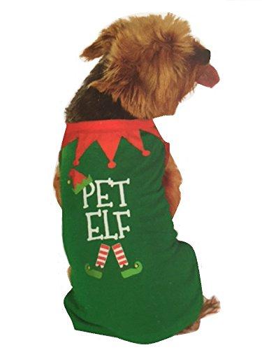 New Weihnachten Made von Elfen Pet Elf Hundemantel Hunde Pullover Weihnachts Neuheit (Elve Kostüme)