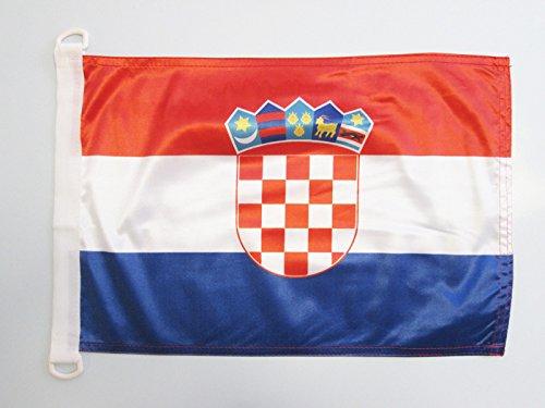 AZ FLAG BOOTFLAGGE Kroatien 45x30cm - KROATISCHE BOOTSFAHNE 30 x 45 cm Marine flaggen Top Qualität