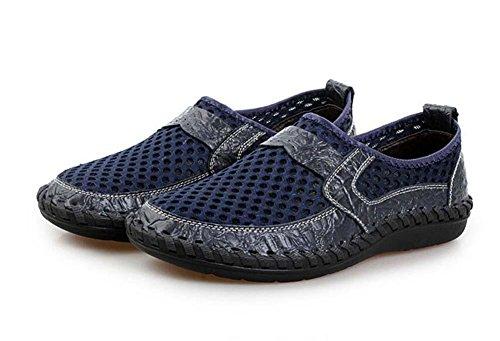 Pumpe Schlüpfen Loafer Netzgarn Mesh Sandalen Beiläufig Schuhe Männer  Atmungsaktiv Hohl Krokodilmuster Pedal Schuhe Sneaker Fahrschuhe