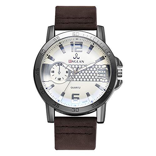Armbanduhren männer Herrenuhr mit Datum Funktion Herren Mode Männer Quarzuhr Hochwertige Lederuhr Blu Ray Glas Armbanduhr Armbanduhr Uhren Armbanduhren Herrenarmbanduh Mehrfarbig