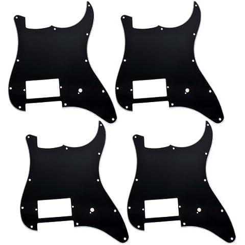 Kmise Nero a 3strati battipenna chitarra Pickguard un humbucker Per Fender Strat Chitarra di ricambio, confezione da 4 - Telecaster Humbucker