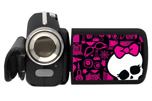 Lexibook DJ280MH Monster High Digitaler Camcorder (1,3 Megapixel CMOS-Sensor, 4-Fach Digit. Zoom, 3,6 Zoll (1,4 Zoll) TFT Display) Digitaler Zoom, Cmos-sensor