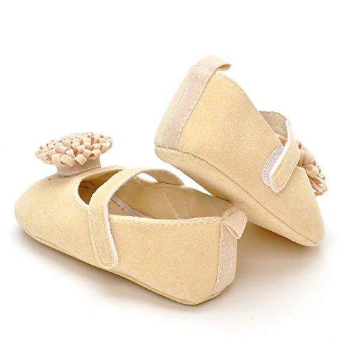 Chaussures avec chrysanthème pour bébé Beige - beige