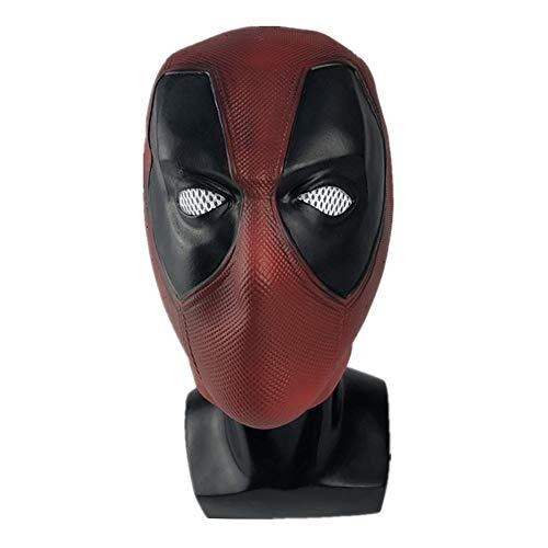 kind heartedJC Maske Latex Head Face Helm Film Wade Wilson Cosplay Kostüm Kleidung Replik Für Herren Party Kostüm Zubehörshort-Dead Pool (Herr Wilson Kostüm)