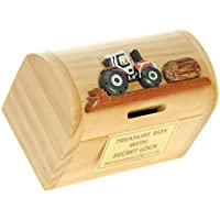Kids Money Box Piggy Bank with Secret Lock! Birthday Gift for Boys, Girls & Children of All Ages : Fun Traditional Treasure Chest Toy (Size 12 x 9 x 7cm)