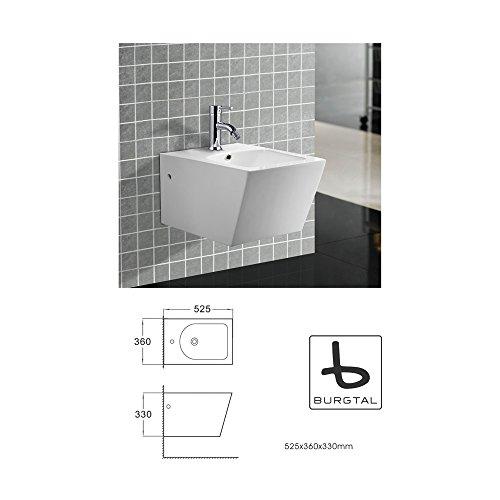 Burgtal 17552 Design Keramik Hänge Wand Bidet Quado BB-03