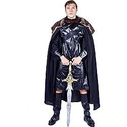 SEA HARE Disfraz de Disfraz de Medieval Black Cape para Hombre