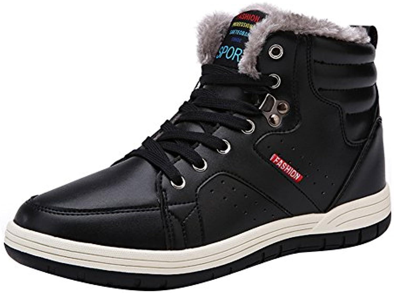 Hibote Herren Sportschuhe Schnuumlren Winter Sneakers Freizeitschuhe Männer Warm Gefuumltterte Winterschuhe Laufschuhe
