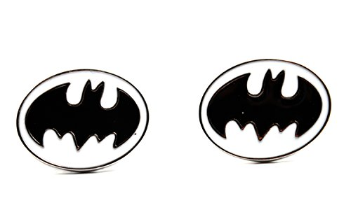 Lujo Batman blanco negro Gemelos-Vintage Logo