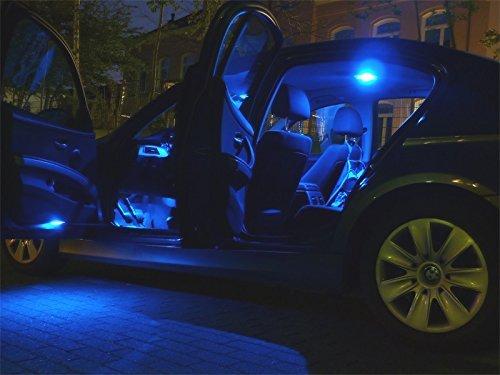 10x Innenraumbeleuchtung Set Lampen BLAU Auto Beleuchtung Leuchtmittel