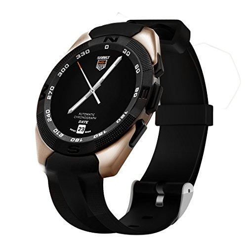 Preisvergleich Produktbild Wearable Bluetooth Smart Watch Anruf Sync und Handfree Kapazitive Touchscreen / Herzfrequenz-Monitor / Excerise Tracker Smartwatch_ Black