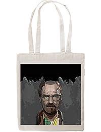 Breaking Bad Inspired Walter White Heisenberg Evolution Fan Art Tote Shopping Bag