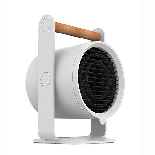 XHDX Riscaldatore Elettrico, Safe Termoventilatore Portatile Manico in Legno per Casa/Ufficio/Camper,a