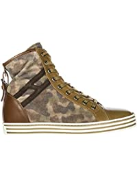 Hogan Rebel Scarpe Sneakers Alte Donna in Pelle Nuove r182 Marrone 6cff46cec3a