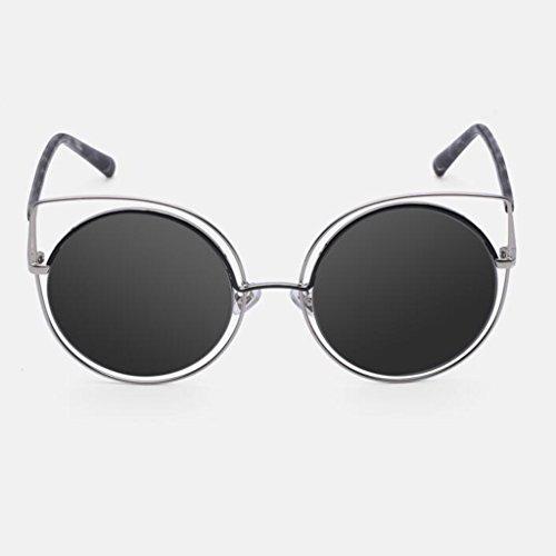 KAI LE Wanderer Sonnenbrillen Frauen Outdoor Freizeit Sonnenblende UV400 Schutz Neue Fahr Geschenk Persönlichkeit Vintage Optional 3 Farbe (Farbe : SCHWARZ)