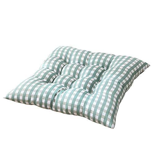 Milnut Sitzkissen Stuhlkissen mit Schleife 40x40cm Sitzauflage Rückenkissen für Bürostuhl Esszimmerstuhl Gartenstuhl, Grün