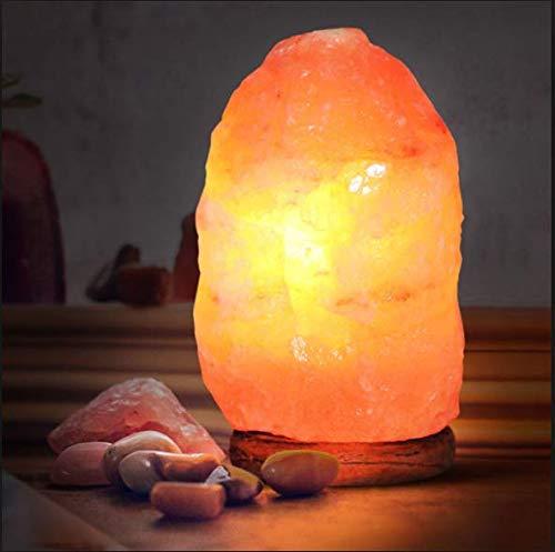 Lampada di Sale Himalaya 2-3 Kg,ZagLine,LampadaSaleRosaNaturale dellHimalaya, Regolatore Intensità Luminosa, Cavo Bianco, Realizzata Cristalli Di SaleNaturali,Purificazione dell\'aria,Intagliata aMano