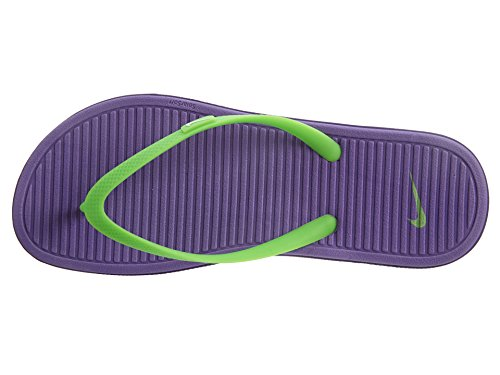 Nike Solarsoft Thong 2 (Gs/Ps), Tongs Fille Morado / Verde / Blanco (Hyper Grape / Vltg Green-White)