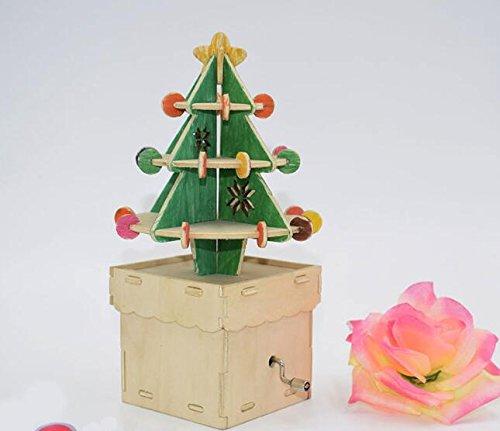 (Sun Hero Holz Handwerk Ornament DIY Weihnachtsbaum Spieluhr Für Weihnachten Dekoration)