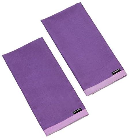 KITCHEN ACCESSORIES PLAIN PURPLE (PURPLE HAZE) COTTON BLEND PACK OF 2 TEA TOWELS