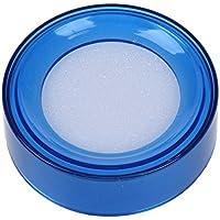 SODIAL(R) Esponja Humeda Caja Redonda Azul Transparente Plastico para Cajero