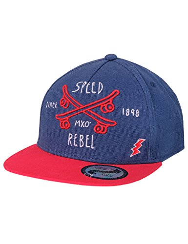 maximo Jungen Kappe Cap Speed Rebel, Blau (Navy/Rot 4802), 51/53