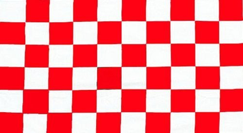 White - 8ft x 5ft FLAG BANNER DECORATION WITH FREE UK POSTAGE by Top Brand (Checkered Flag Banner)