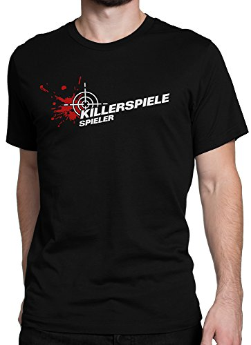 vanVerden Unisex T-Shirt XS-5XL Killer Spiele Spieler / Gaming, Color:Schwarz, Größe:XL