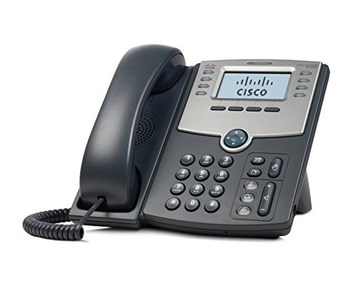 Cisco 8 Line IP Phone With Display, PoE and PC Port (Certified Refurbished) Display Poe Pc