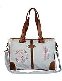 Priti Vintage Design Washed Canvas Handbag Office Handbag Cross Body Bag Messenger Cross Body Shoulder Bag Adjustable...