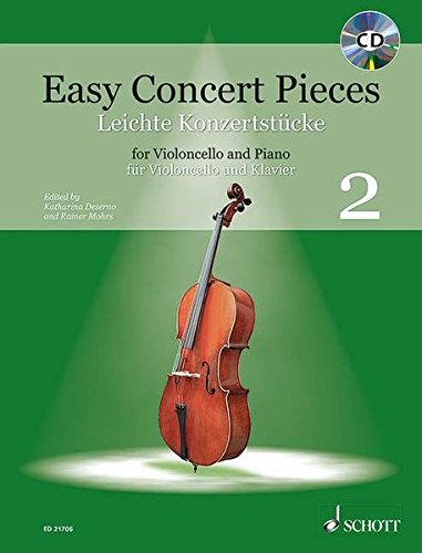 Easy Concert Pieces: Band 2. Violoncello und Klavier. Ausgabe mit CD.