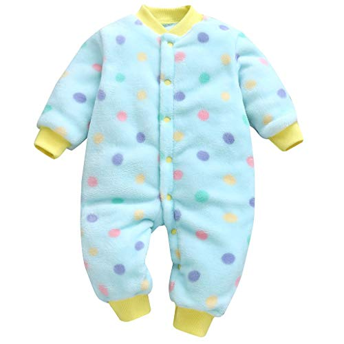 Baby Climbing Clothes Newborn Infant Fleece Lined Warm Hooded Romper Jumpsuit Bodysuit Snowsuit Outfit Overalls 0-12 Months