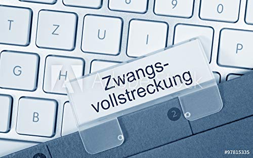 druck-shop24 Wunschmotiv: Zwangsvollstreckung Ordner auf Computer Tastatur #97815335 - Bild auf Forex-Platte - 3:2-60 x 40 cm / 40 x 60 cm