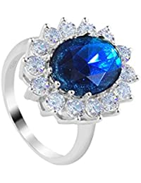 Le Premium® Sterling-Silber 925 Prinzessin Kate Fingerring - Size '51''54''56'