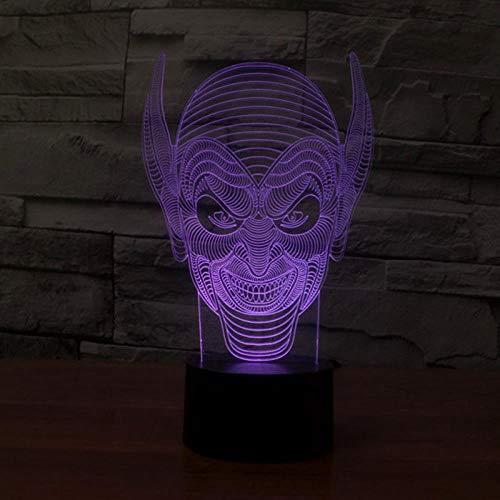 LXXYD 3D Led Illusion Lampe Lange Monster Nachtlicht Optische Nachttisch Nachtlicht Beleuchtung Kinder Lampe Schlaf Beleuchtung 7 Farbe Usb-Kabel Dekorative Geschenk Tischlampe (Usb-kabel Monster-beleuchtung)
