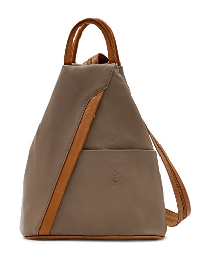 Benagio , Damen Rucksackhandtasche Tan and Dark Taupe