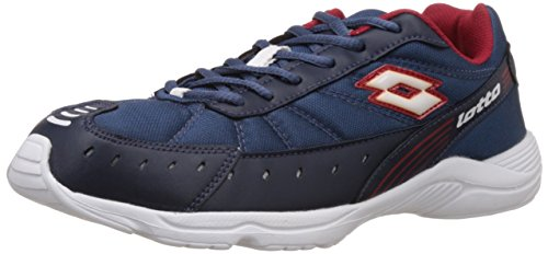 Lotto Men's Truant II Blue and Red Mesh Running Shoes