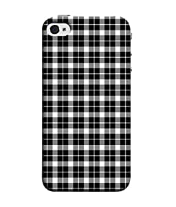 PrintVisa Designer Back Case Cover for Apple iPhone 4 (With neat checks The cloth)