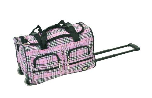 rockland-bolsa-de-viaje-pink-and-plaid