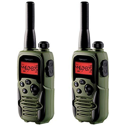 Topcom RC-6406 - Walkie-talkie, Edición Airsoft, Dos Auriculares de Seguridad Incluidos