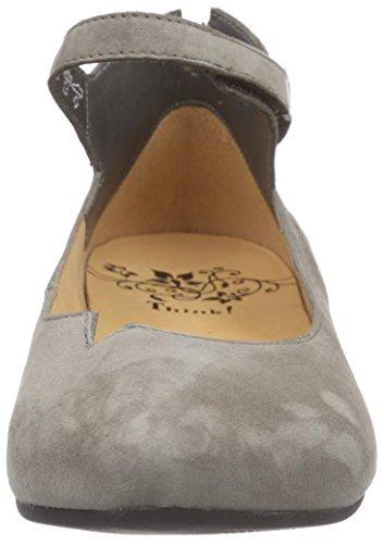 Think! - Imma Ballerina, Scarpe col tacco con cinturino a T Donna Grigio (Grau (SCHLAMM 18))