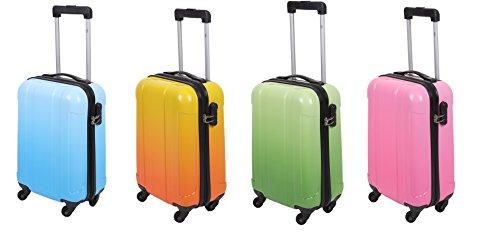 UZERN Hartschalen Koffer Teleskop Trolley Boardcase mit Zahlen-Schloss und 4 Leichtlaufrollen verschiedene Farben Farbe grün (Einfach Die Farbe Durch Zahl)